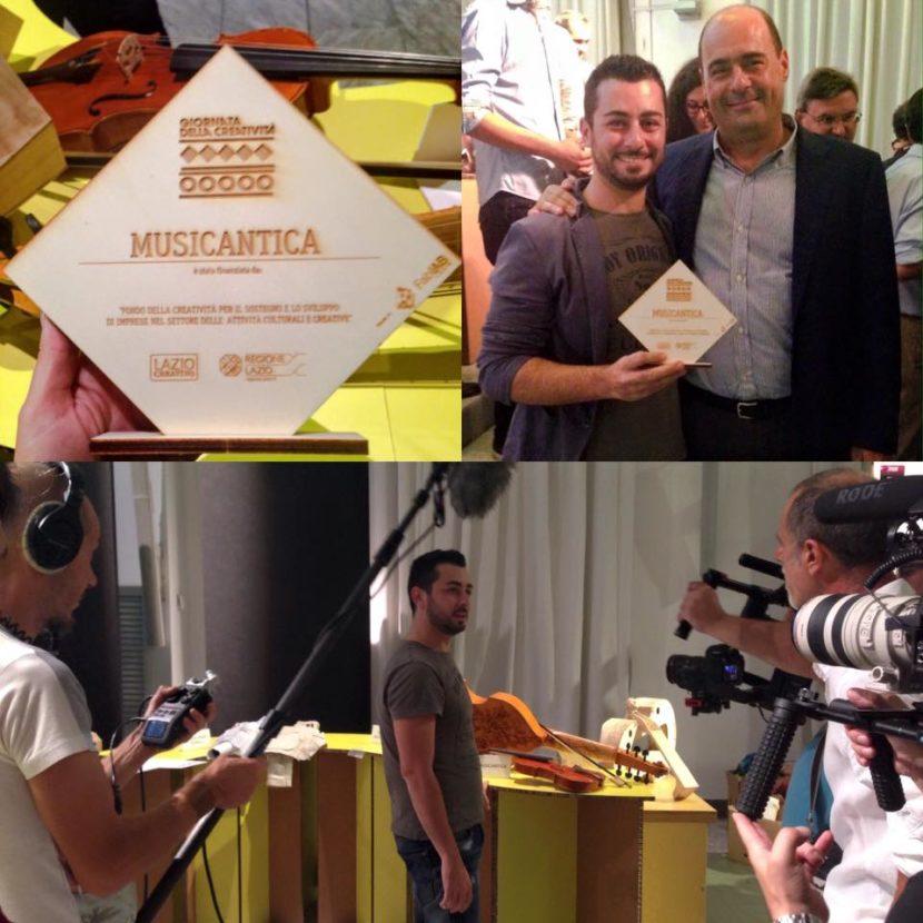Premio Zingaretti startup regione lazio musicantica